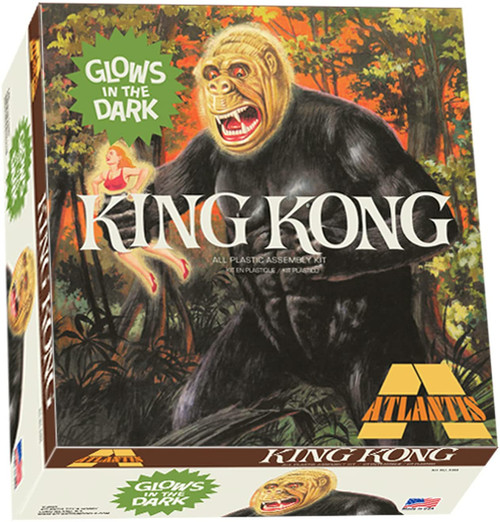 King Kong Glow in The Dark Plastic Model Kit 1/25 Atlantis Models A465