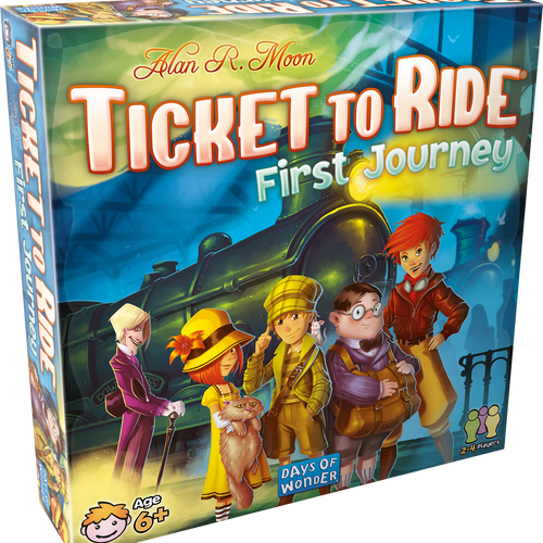 Ticket to Ride: First Journey Board Game by Days of Wonder Asmodee DO7225