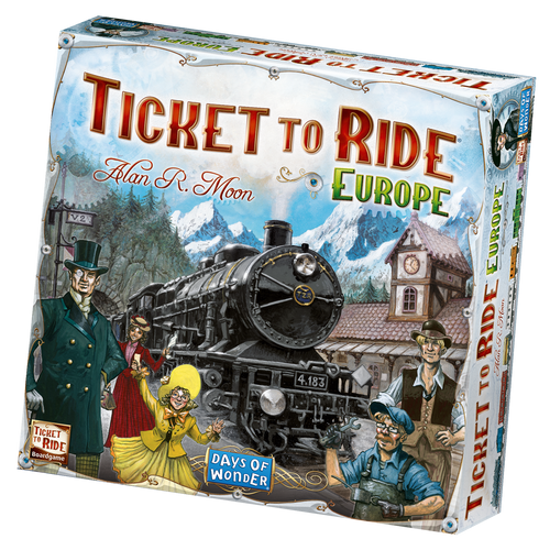 Ticket to Ride: Europe Board Game by Alan R Moon Days of Wonder Asmodee DO7202