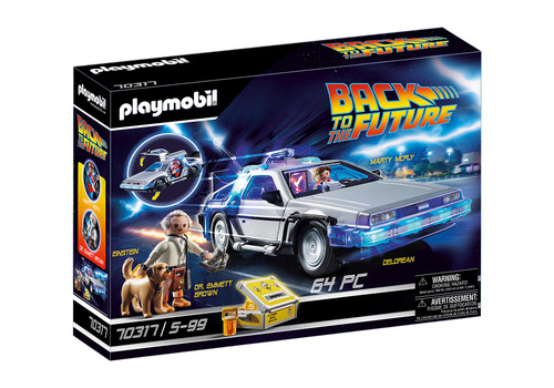 Playmobil Back To The Future Delorean w/ Lights & Sounds Playset 70317