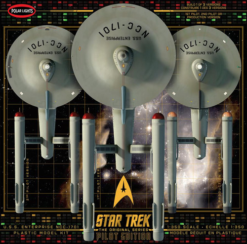 Star Trek TOS USS Enterprise Pilot Edition 1:350 Model Kit Polar Lights 993