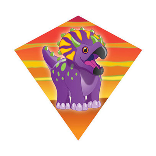 "MiniDiamond 18"" Triceratops Nylon Kite Wind-N-Sun (WS70255)"