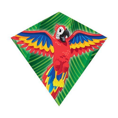 "MiniDiamond 18"" Macaw Nylon Kite Wind-N-Sun w/ Line Winder & Handle (WS70253)"