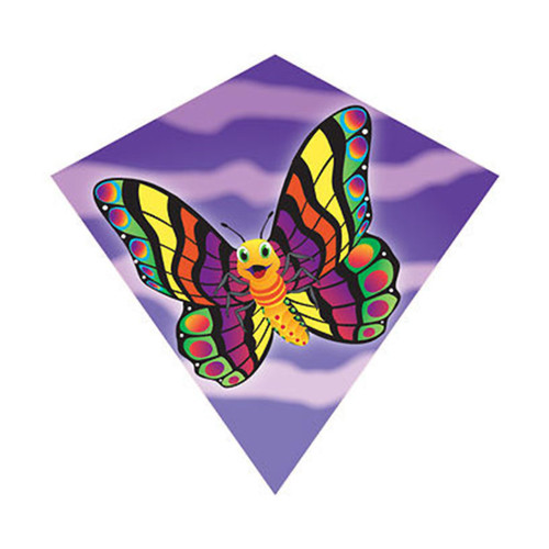 "MiniDiamond 18"" Butterfly Nylon Kite Wind-N-Sun w/ Line Winder & Handle (WS70252)"