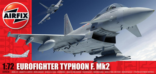 Airfix Eurofighter Typhoon F Mk2 1:72 Plastic Model Kit (A04036)