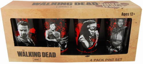 Just Funky Walking Dead Pint Glass 4-Pack - SET1 (GS4-WD-SET1)