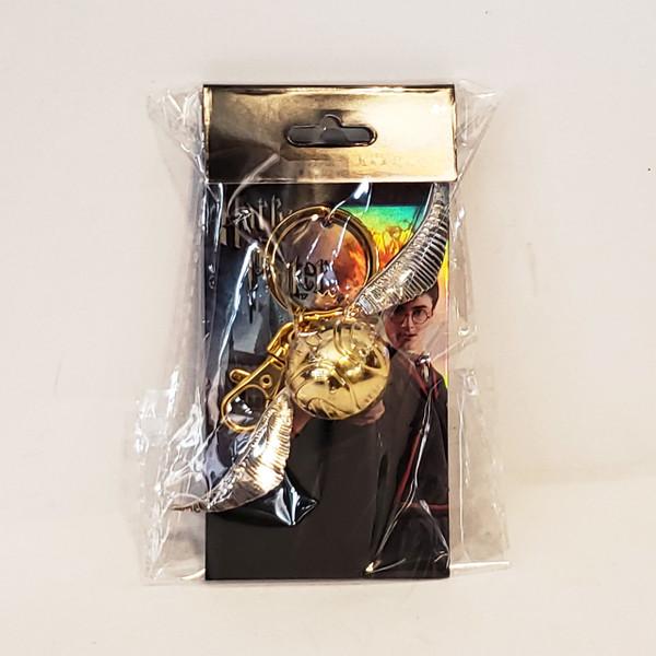 Harry Potter Golden Snitch Pewter Metal Key-Chain Key-Ring Monogram MG48002