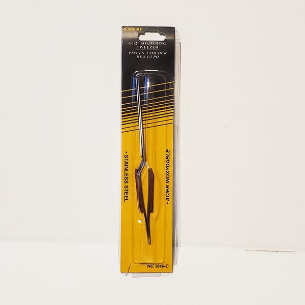 """Enkay 6.5"""" Hobby Soldering Tweezers Stainless Steel Hobby Model Tool 1046-C"""
