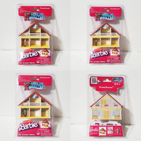 Worlds Smallest Barbie Malibu Dream House Swimsuit Ken Totally Hair Barbie Malibu Black Barbie Super Impulse #5011M