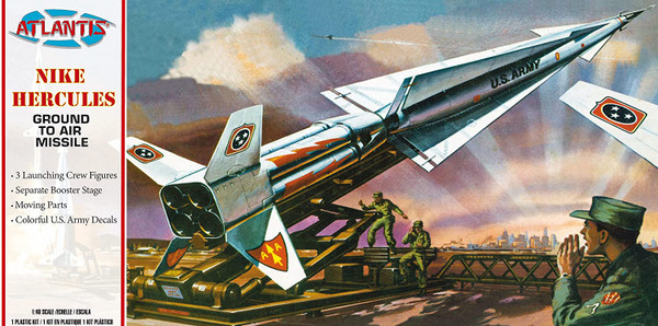 Nike Hercules Ground-To-Air Missile 1/40 Plastic Model Kit Atlantis Models H1804