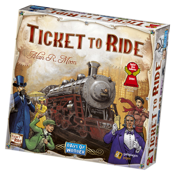 Ticket to Ride Board Game by Alan R Moon Days of Wonder Asmodee DO7201