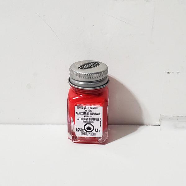 Testors Flat Red Enamel Paint .25oz #1150 RM1150