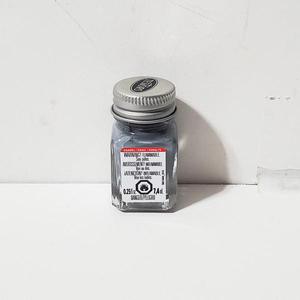 Testors Flat Gray Enamel Paint .25oz #1163 RM1163