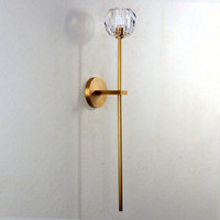 Balle Be Crystal Grand Sconce Brass