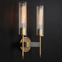 Aicken Double Sconce Brass