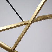 Patrick Chandelier 20 Lights Brass