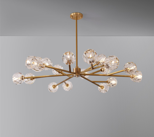 """Balle Be Crystal Round Chandelier 48"""""""