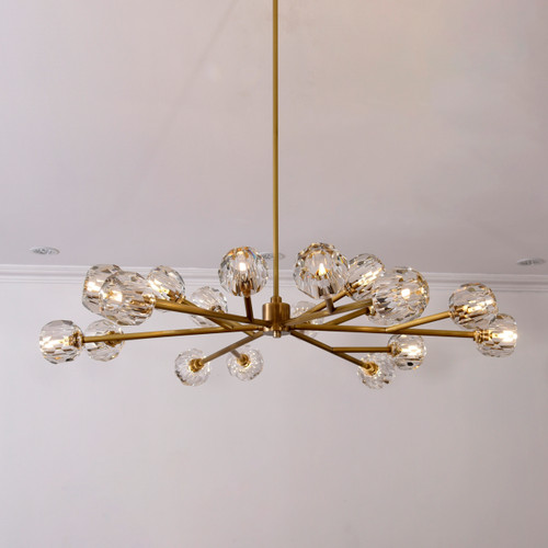 """Balle Be Crystal Round 18-Light Chandelier 60"""""""