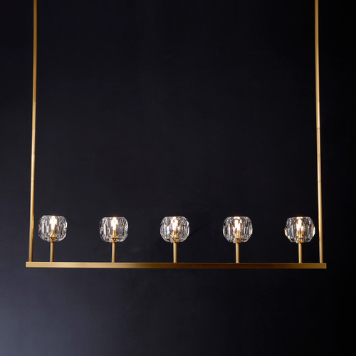 """Balle Be Crystal Linear Chandelier 48"""""""