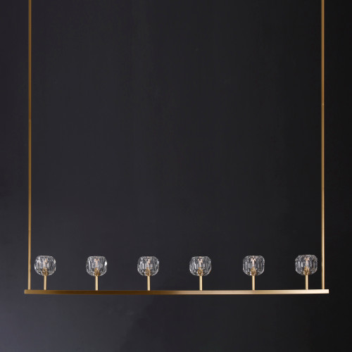 Balle Be Crystal Linear Chandelier 60""