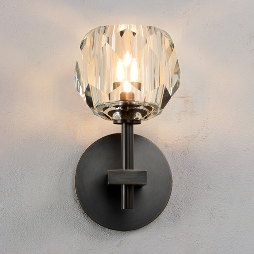 Balle Be Crystal Sconce Bronze