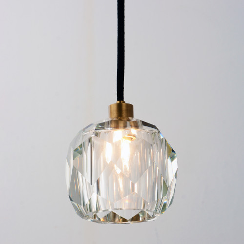 Balle Be Crystal Pendant Brass