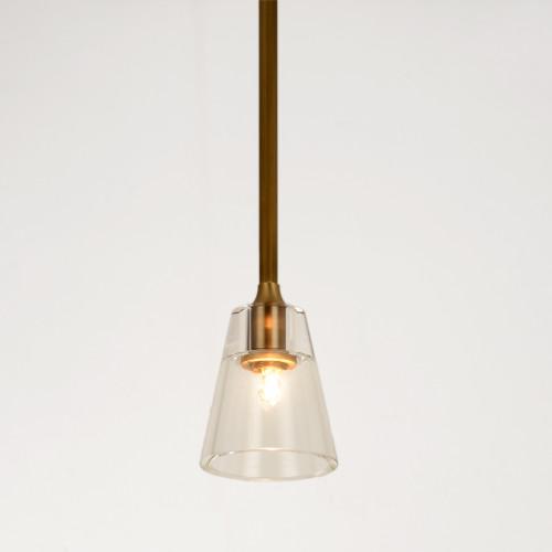 Scepter Long Pendant Brass
