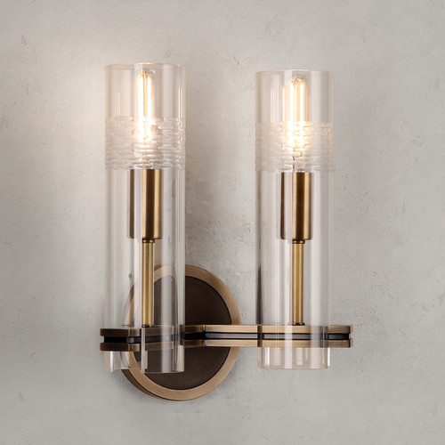 Carney Double Sconce Brass