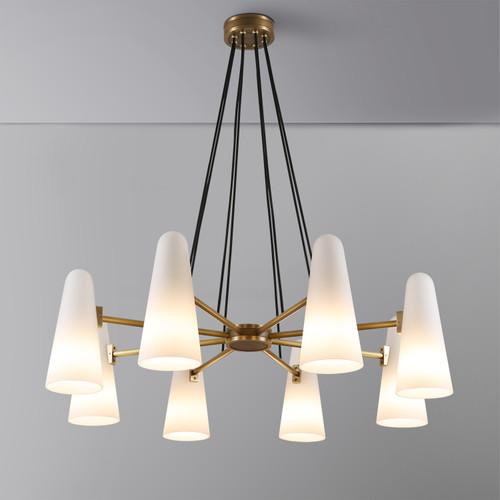 Bianco Chandelier 8 Lights Brass
