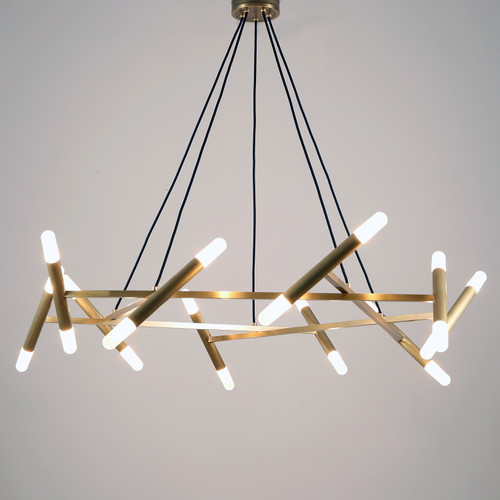 Patrick Chandelier 20 Lights Brass