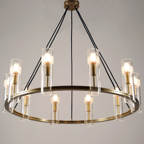 Carney Chandelier 10 Lights Brass
