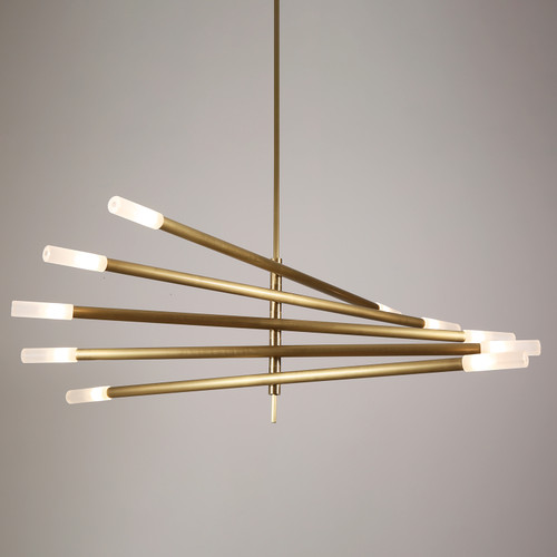 Rotatable Plus Patrick Chandelier 10 Lights Brass
