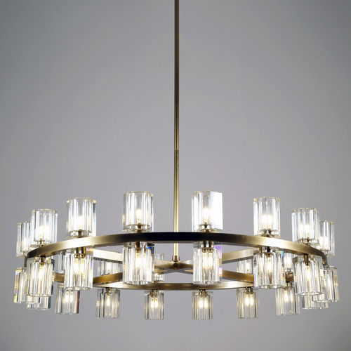 Aubrey Chandelier 32 Lights Brass