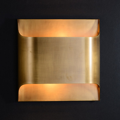 JRS Luther Double Lights Wall Sconce Brass