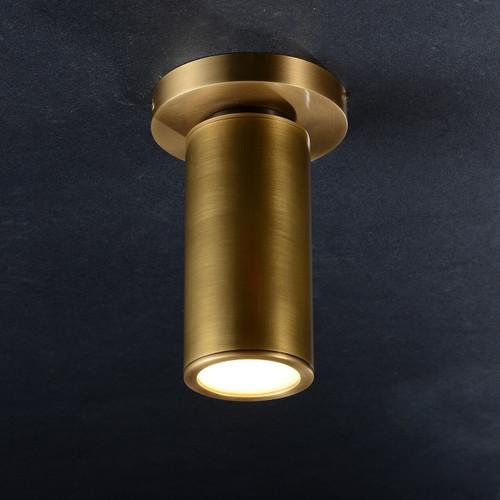 JRS Cameron Flushmount Brass
