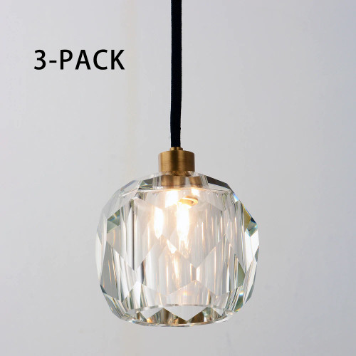 3-PACK Balle Be Crystal Pendant Brass (Australia ONLY)