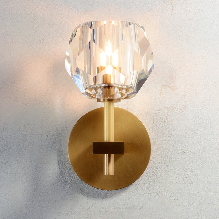 Balle Be Crystal Sconce Brass