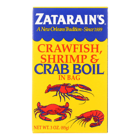 Zatarain's Crab Boil - Dry - Case Of 6 - 3 Oz