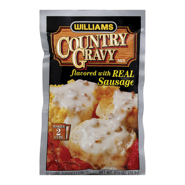 Williams Country Gravy - Real Sausage - Case Of 12 - 2.5 Oz. - 0231266