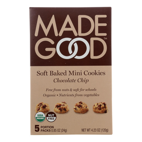 Made Good - Cookies - Soft Chocolate Chip - Case Of 6 - 4.25 Oz.