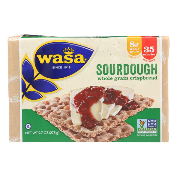 Wasa Crispbread Rye Crispbread - Sourdough - Case Of 12 - 9.7 Oz.