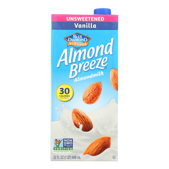 Almond Breeze - Almond Milk - Unsweetened Vanilla - Case Of 12 - 32 Fl Oz.