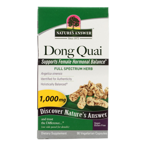 Nature's Answer - Dong Quai Root Extract - 90 Vegetarian Capsules