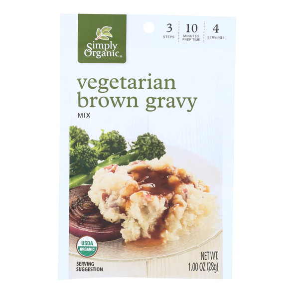 Simply Organic Vegetarian Brown Gravy Seasoning Mix - Case Of 12 - 1 Oz. - 0916221