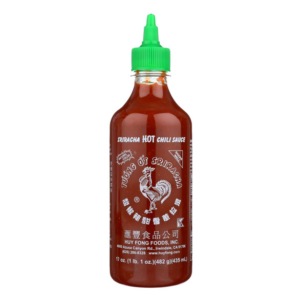 Huy Fong Hot Chili Sauce - Sriracha - Case Of 12 - 17 Oz.