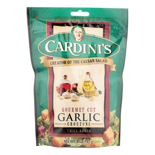 Cardini's Croutons - Garlic - Case Of 12 - 5 Oz