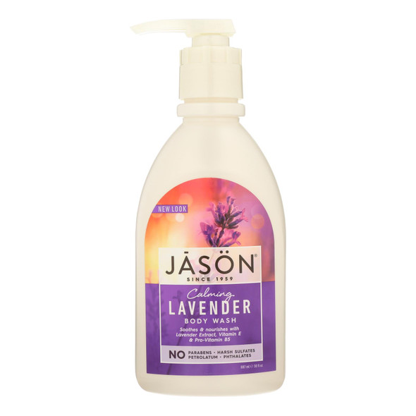 Jason Body Wash Pure Natural Calming Lavender - 30 Fl Oz