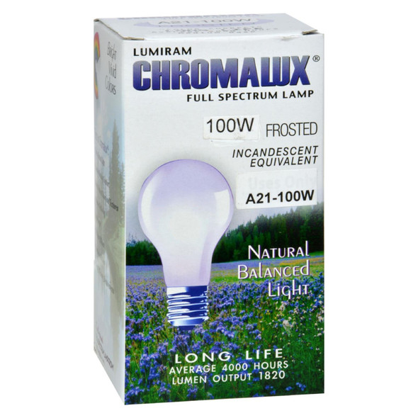 Chromalux Light Bulb Frosted-100w - 1 Bulb