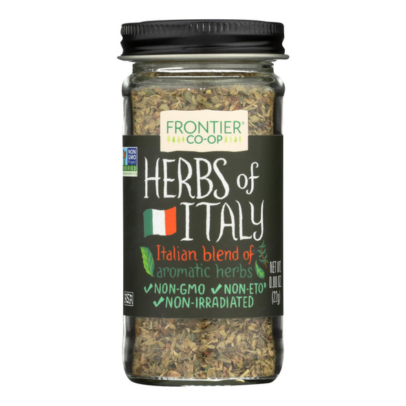 Frontier Herb International Seasoning - Herbs Of Italy - Salt Free - .80 Oz