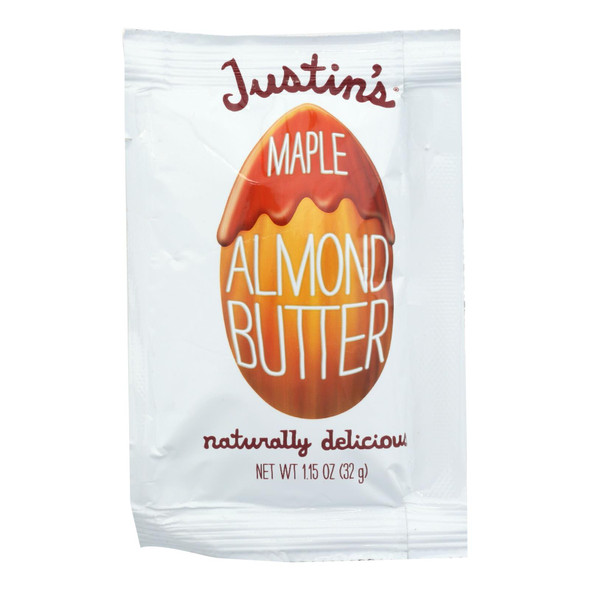 Justin's Nut Butter Squeeze Pack - Almond Butter - Maple - Case Of 10 - 1.15 Oz.